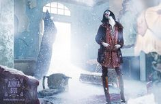 Set designer & prop stylist Anthony Asaro creates the Winter 2014 campaign for Anna Sui.  See more work by #AnthonyAsaro at http://www.utopianyc.com/fashion-prop-still-life-styling-tailor/anthony-asaro-prop-stylist/advertising #AnnaSui #Props #SetDesigner #Advertising #Campaign