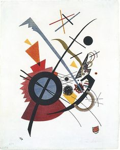 Violett / Vasily Kandinsky/ 1923 / Lithograph in red, yellow, blue and black