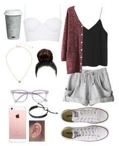 """Untitled #83"" by dggfhfty ❤ liked on Polyvore featuring Topshop, Derek Lam, adidas, Apiece Apart, Converse, Kate Spade, Fitz & Floyd and Links of London"