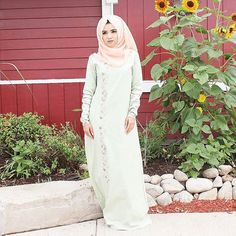 Fleur abaya from use the code for a Eid discount for over purchase! Valid until September Hijab from Muslim Fashion, Modest Fashion, Hijab Fashion, Girl Fashion, Fashion Outfits, Hijab Niqab, Hijab Outfit, Hijab Makeup, Hijabi Girl