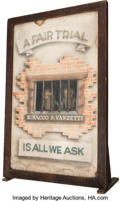 Political:Miscellaneous Political, Sacco & Vanzetti: A Remarkable Three Dimensional Display S...