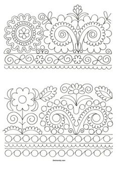 Hand Embroidery Design Patterns, Folk Embroidery, Indian Embroidery, Embroidery Stitches, Handbags Online Shopping, Chain Stitch, Folk Art, Coloring Pages, Pattern Design
