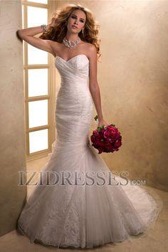 Trumpet/Mermaid Strapless Sweetheart Organza Wedding Dress