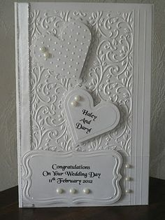 white wedding card