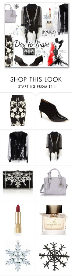"""""""Holiday party"""" by hana-beatovic ❤ liked on Polyvore featuring Alexander McQueen, Ted Baker, Alberta Ferretti, P.A.R.O.S.H., Judith Leiber, Dolce&Gabbana, Burberry, Waterford, Shea's Wildflower and HolidayParty"""