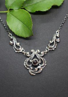 Trachtenkette Silber für Damen Chain, Jewelry, Fashion, Necklaces, Dirndl, Rhinestones, Neck Chain, Handmade, Silver