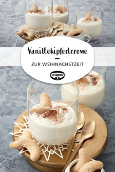 Oetker Rezepte Vanilla pastry cream: A chocolate dessert with vanilla biscuits at Christmas time Cupcake Recipes, Cookie Recipes, Snack Recipes, Dessert Recipes, Easy Recipes, Recipes Dinner, Cinnamon Cream Cheese Frosting, Cinnamon Cream Cheeses, Cake Mix Cookies