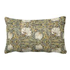 vintage throw pillows | William Morris Vintage Flowers Throw Pillows | Zazzle.co.uk
