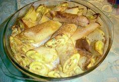 Bécsi túrós palacsinta Shrimp, Pancakes, Paleo, Food And Drink, Turkey, Chicken, Vegetables, Cooking, Mille Crepe