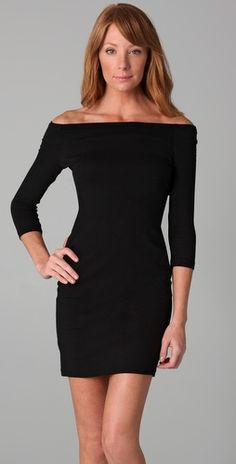 James Perse off the shoulder dress