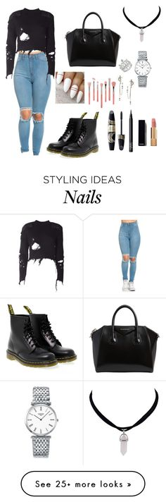 """""""Untitled #370"""" by lexikth on Polyvore featuring adidas Originals, Dr. Martens, Givenchy, Longines, Alexander McQueen, Bdellium Tools, Max Factor, NARS Cosmetics and Chanel"""