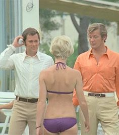 Tony Curtis and Roger Moore and the main attraction
