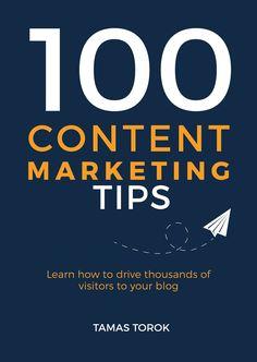 Minimalist book cover. Simply blue cover design. Content marketing book design. http://contentmarketingtip.com/