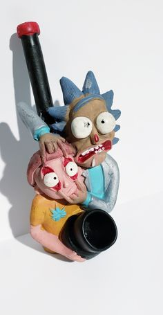 Rick and Morty Ceramic wood pipe Rick And Morty Image, Rick Y Morty, Clay Crafts, Arts And Crafts, Glass Pipes And Bongs, Cool Bongs, Mother Birthday Gifts, Green Gifts, Ganja