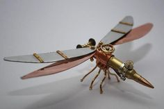 Steampunk Insects Created from Bullets