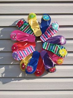 A Day In The Life with Tj: Dollar Tree Flip Flop Wreath