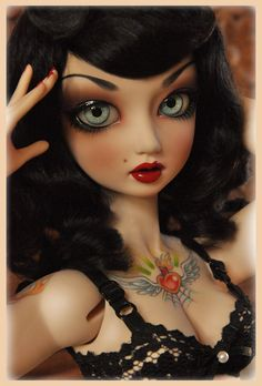 """Pinup girl Cherry~Sue """"Come back to bed, boy..."""" by Clockwork_Angel, via Flickr"""