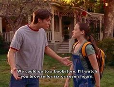 escapetospace: siriuslymeg: what i look for in a boyfriend Yes I too look for Jared Padalecki in a boyfriend. reading bookshop rory gilmore girls alexis bledel tv show quote Rory Gilmore, Gilmore Girls Books, Anniversary Quotes, Film Quotes, Book Quotes, Quotes Quotes, Cute Girlfriend Quotes, Husband Quotes, Haha