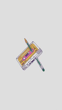 Rewind Cassette Tape With Pencil iPhone 6 Wallpaper