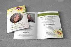 Funeral Program Template-V646 by Template Shop on @creativemarket