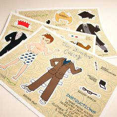 David Tennant Inspired Paper Doll Digital Download – PDF File – US and UK/international sizes  Spend hours of fun dressing (or undressing) the Tenth Doctor! Perfect for an imagination that's bigger on the inside. The Doctor comes with 3 pages of clothes and accessories.