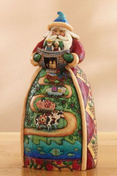 Santa With The Ark Jim Shore Christmas Father Christmas Christmas Crafts For Gifts