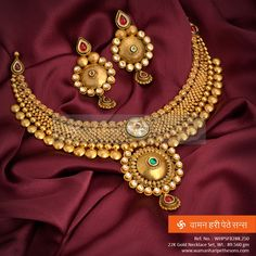Add traditional touch to your look with this designer ‪#‎gold‬ ‪#‎necklaceset‬ from our ‪#‎jewellery‬ collection.