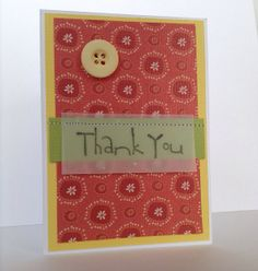 Hand made Thank You card by missbrightest on Etsy, $5.00