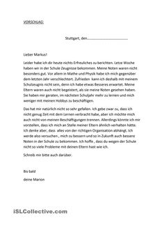 Einen Privaten Brief Schreiben Beispiel Für Den Aufbau German