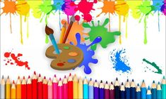 Art Party Decorations, Fun Party Themes, Birthday Party Themes, Painting For Kids, Art For Kids, Crafts For Kids, Color Pencil Picture, Arte Do Hulk, Kids Art Party