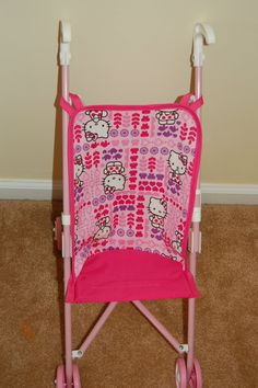 This is a cute Hello Kitty doll stroller seat. It sells for $10.