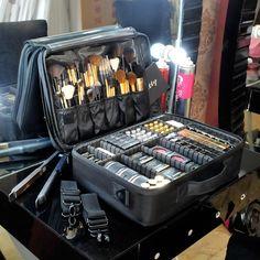 High Quality Professional Makeup Organizer Cosmetic Case Travel Large Capacity Storage Bag Suitcases - Design Make Up Makeup Box, Mac Makeup, Makeup Storage, Makeup Organization, Makeup Cosmetics, Makeup Brushes, Makeup Tips, Beauty Makeup, Teen Makeup