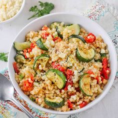 Parmesan Couscous with Zucchini and Sundried Tomatoes!