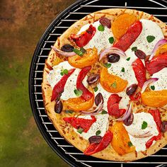 Spice up outdoor family gatherings this summer with these delicious grilling recipes. Savor your favorite toppings and bright summer flavors with tasty grilled pizza.