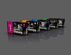 Black nitrile examination gloves - packaging design Fingerprint Id, Black Gloves, Packaging Design, Search, Design Packaging, Package Design