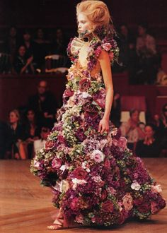 Over the top flower dress :)