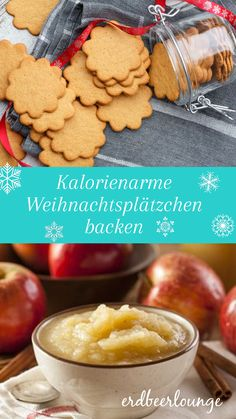 How to bake low-calorie Christmas cookies Chocolate Chia Seed Pudding, High Protein Snacks, Healthy Protein, Köstliche Desserts, Christmas Cookies, Puddings, Low Carb, Clean Eating, Easy Meals