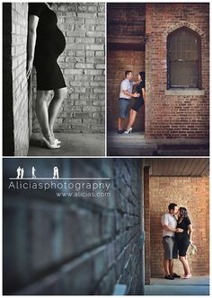 Maternity poses for couples - with an urban twist
