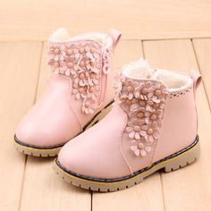 >> Click to Buy << 2016 Winter Girls Child Snow Boots Shoes Female Child Warm Martin Boots Small Flower Fashion Martin Shoes Girls Princess Boots #Affiliate