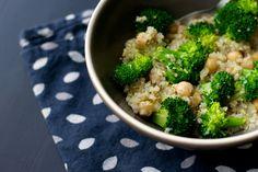 Broccoli Quinoa Chickpea Salad