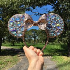 Hey guys! I have enough supplies remaining to make a few more pairs of rose gold bling ears so I will be posting a limited quantity in my shop shortly (link in bio)! Please note these are flat ears and weigh slightly more than fabric ears and bow cut may vary  If you don't snag one today remember I have ordered more supplies so in a few week I will have them available again!