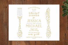 Knife and Fork Rehearsal Dinner Invitations by Phrosné Ras at minted.com