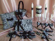 Zebra Print Wedding Ring Pillow Wedding Flower Girl by All4Brides, $215.00