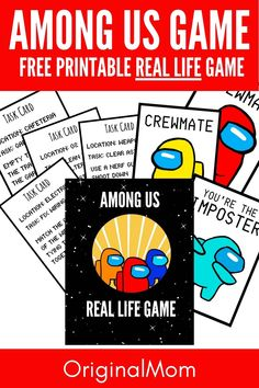 Real Life Among Us Game Printable (with Pictures!)