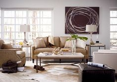 Leather Choices Living Room featuring Highlife Sofa and Cachet Tables from Thomasville