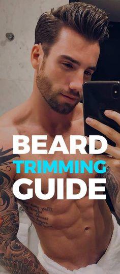 Beard Trimming Guide Latest Beard Styles, Beard Styles For Men, Bald With Beard, Full Beard, Beard Trimming Guide, Gentleman, Mens Facial, Beard Humor, Short Beard