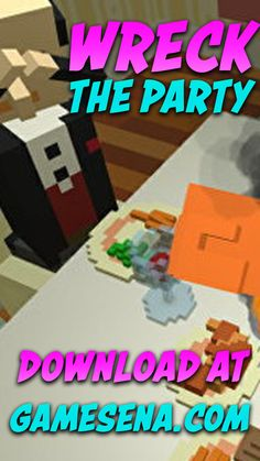 Wreck The Party is a simple simulation game that is very satisfying but strange where players will be present at a dinner party with the family complete with turkey dishes that have been cooked and available at the dining table is full, but certainly not exciting if there is no destruction at the event this lively family. Free Pc Games, Turkey Dishes, Simulation Games, Destruction, Party Games, Dining Table, Dinner, Simple, Turkey Plates