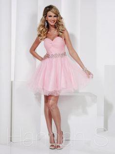 Hannah S Short Glitter Tulle Prom Dress 27808