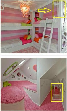Pin by Shirley Farquhar on Indoors – hidden rooms doors - Versteckte Räume Teenage Bedroom Ideas Ikea, Cute Bedroom Ideas, Cute Room Decor, Girl Bedroom Designs, Awesome Bedrooms, Cool Rooms, Teenage Bedrooms, Modern Bedrooms, Bedroom Girls