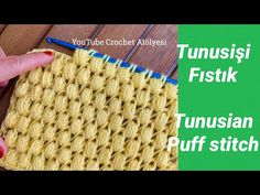 Puff Stitch Crochet, Tunisian Crochet Stitches, Crochet Videos, Lana, Projects To Try, Make It Yourself, Blog, Crochet Hats, Tejidos